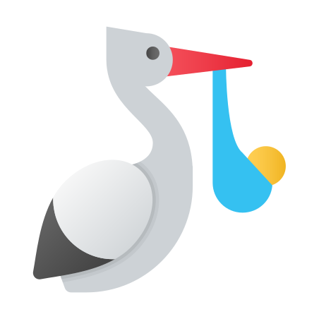 Stork With Bundle icon in Fluent