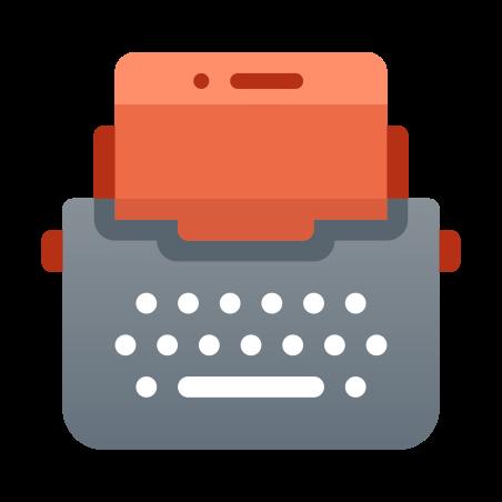 Macchina da scrivere con Tablet icon