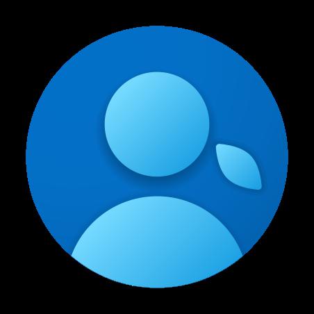 Пользователь-женщина в кружке icon