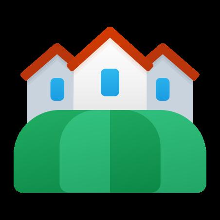 Village icon in Fluent