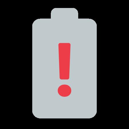 Warning Battery icon