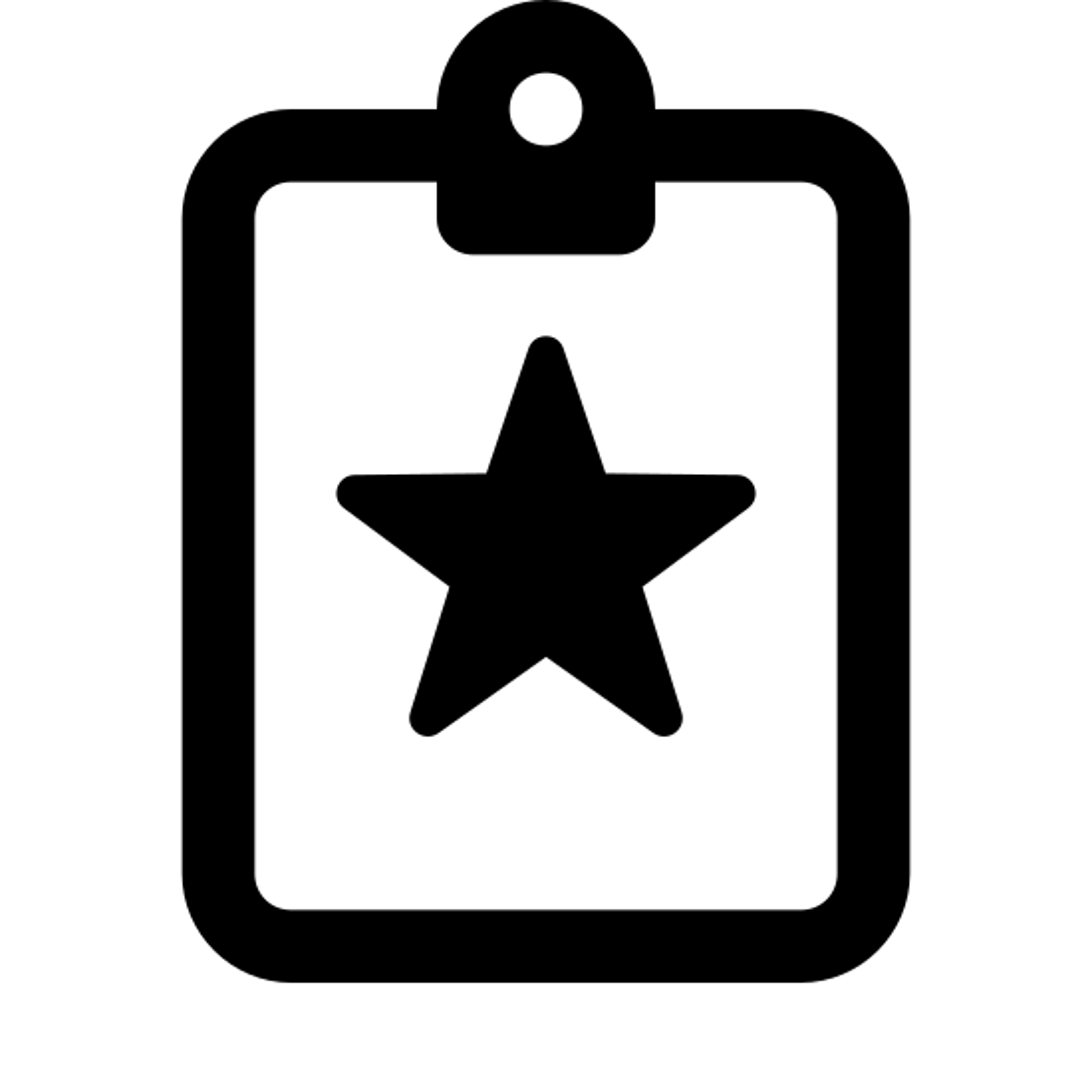特殊貼り付け icon. A paste special icon consists of two parts that are both rectangular shape. The first symbol is a clipboard to show that something is being paste or copied down. The second part of the image is to represent that it is special, which will be a rectangle with a star in the middle.
