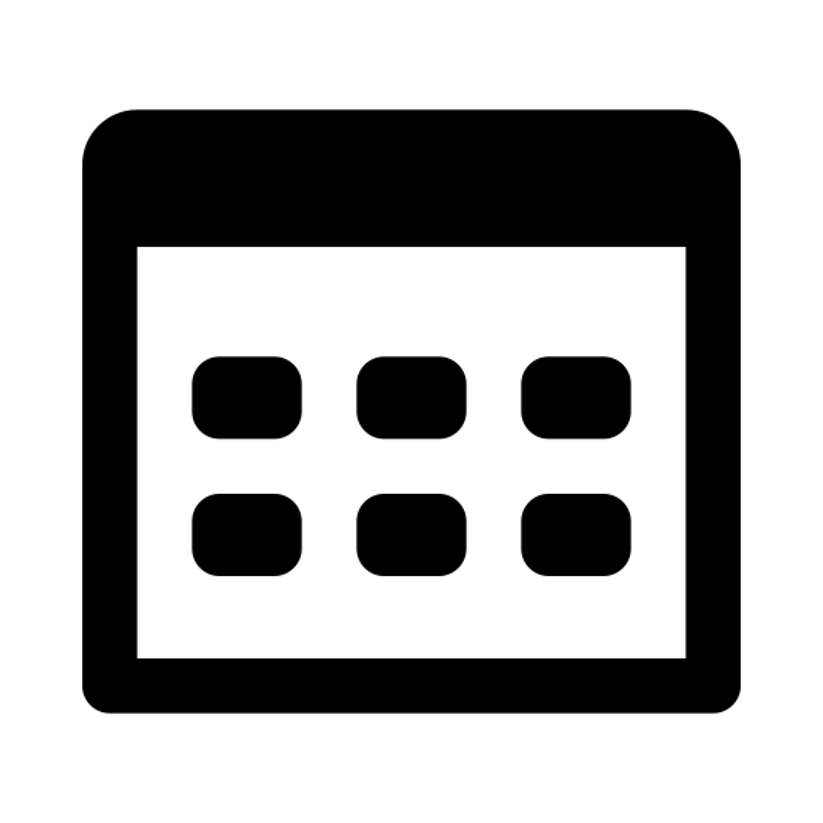 サムネイル icon. The logo is of a series of nine small squares in a grid pattern.  The grid is three squares wide by three squares tall. The squares are not touching at all, there is an even amount of space between each square.
