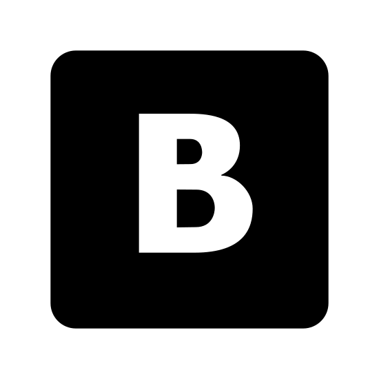 VKontakte icon. This is a picture of the letters V and K morphed together. They have pointy edges on the letters, and they are pictured alone in the center of a rounded square shape.