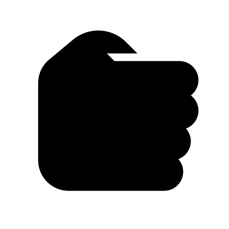Hand Rock icon in iOS Glyph
