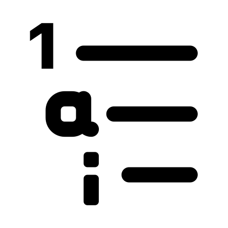 Outline List icon