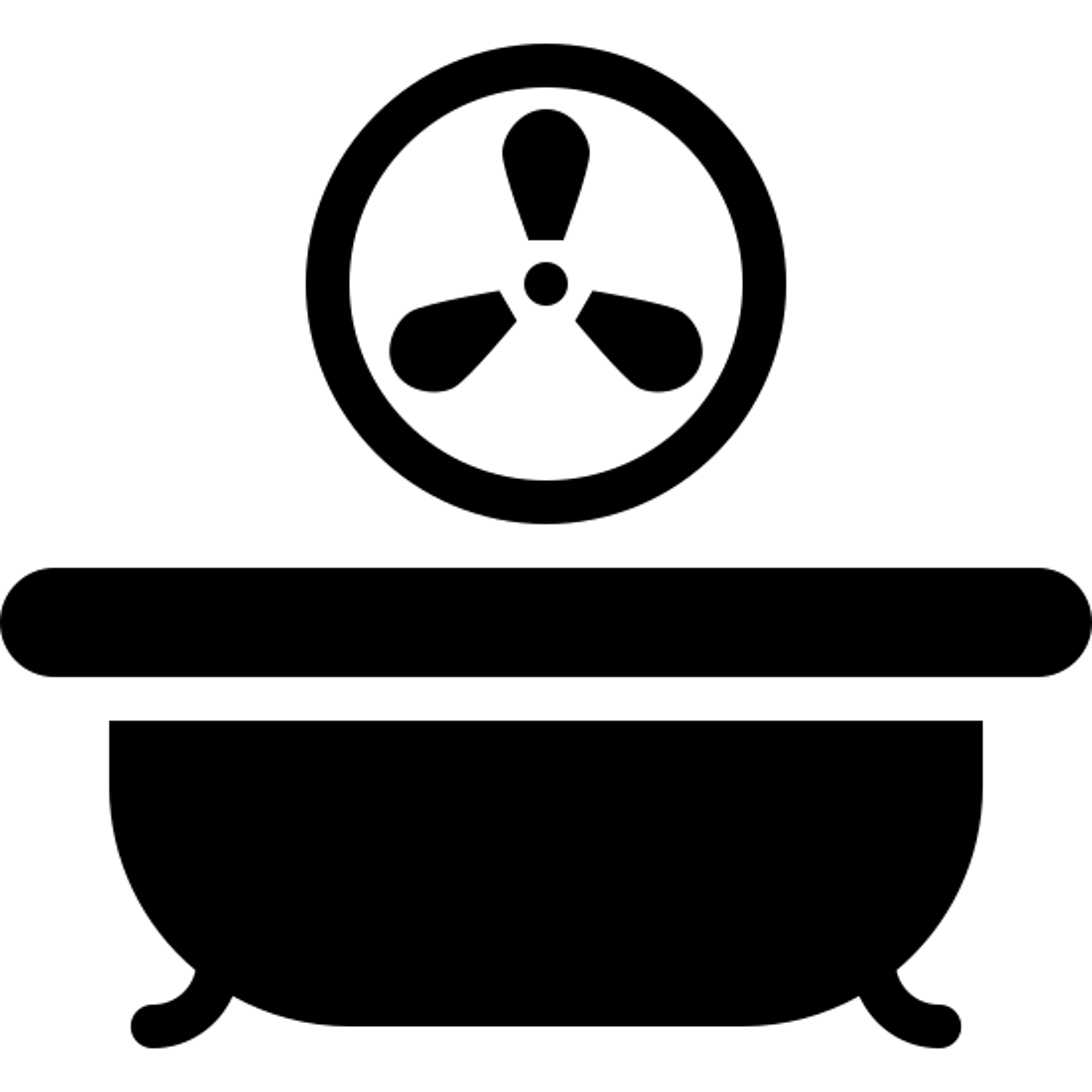 Bath Fan Filled icon