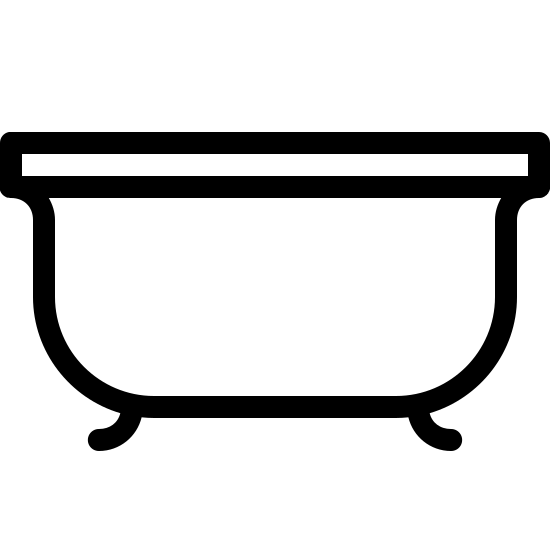 Kąpiel icon. This can be described as a large alphabet U whose edges have a small curve pointed towards outside on both edges and have small rectangular bar placed on top of it whose length is exactly equal to the width of the alphabet U. Also there are two small curved lines underneath the alphabet U with right one bend towards east or right and left one bend towards west or left.