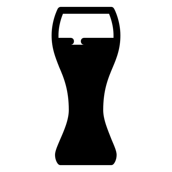 Pint Filled icon. There is a line at the bottom of the image. There are two lines that are nose shaped from the side. The two nose shaped lines are parallel to each other. On top of these lines, there is a rectangle. On the bottom line of the rectangle, there is a space.