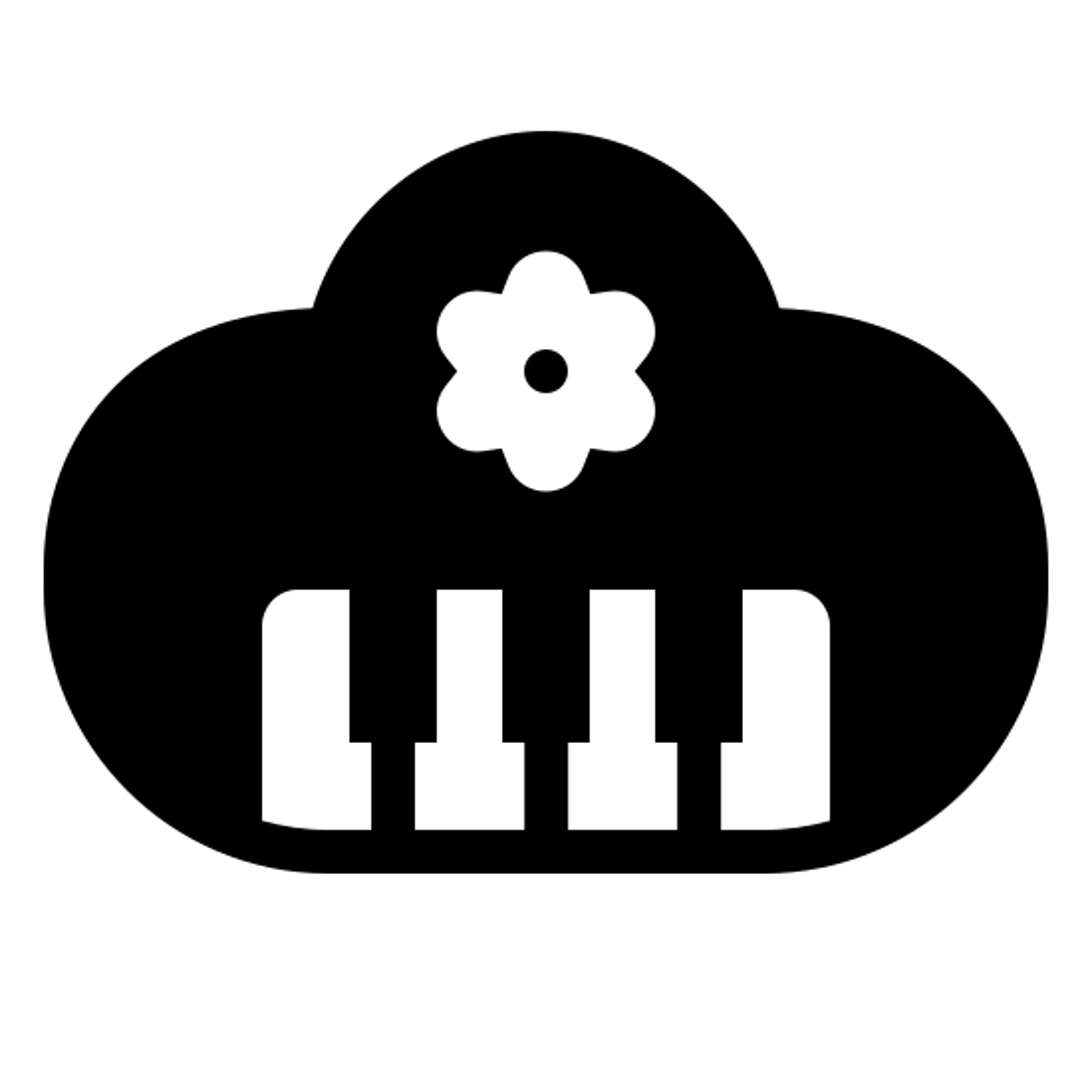 Children's music Filled icon