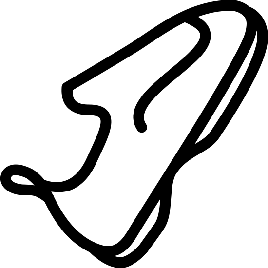Climbing Shoes icon. The icon is of one shoe, tilted at an angle, the toe facing upward to the right. There is a loop on the back heel of the shoe and sturdy rubber on the bottom of the shoe.
