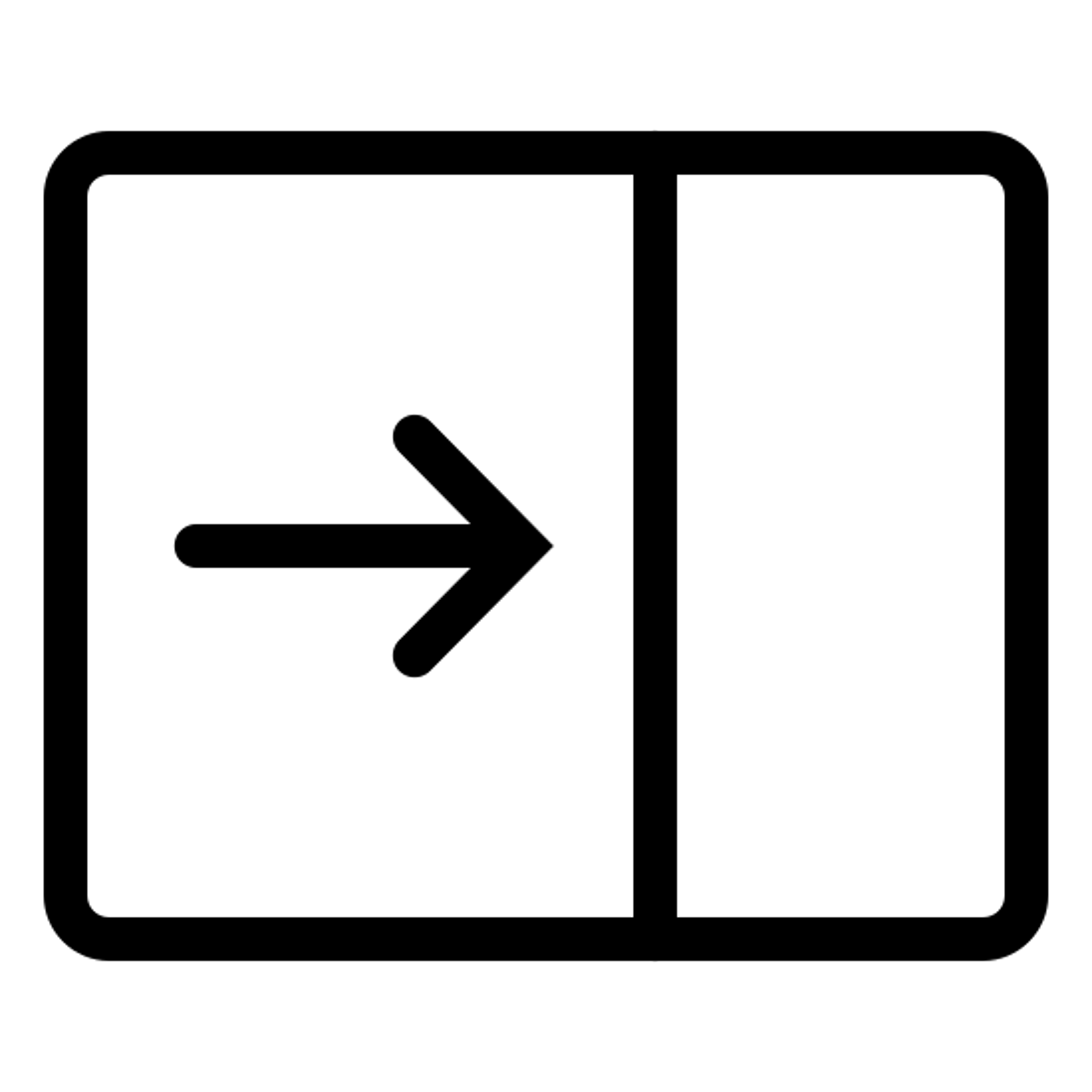 Zwiń panel icon