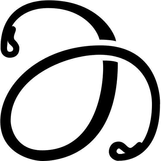 Energy Absorber Filled icon. There is a thin line with small loops folding back into itself at either end. The line is curvy and starts at the top, goes down and to the left then comes back up and crosses over itself. The line ends on the bottom right.