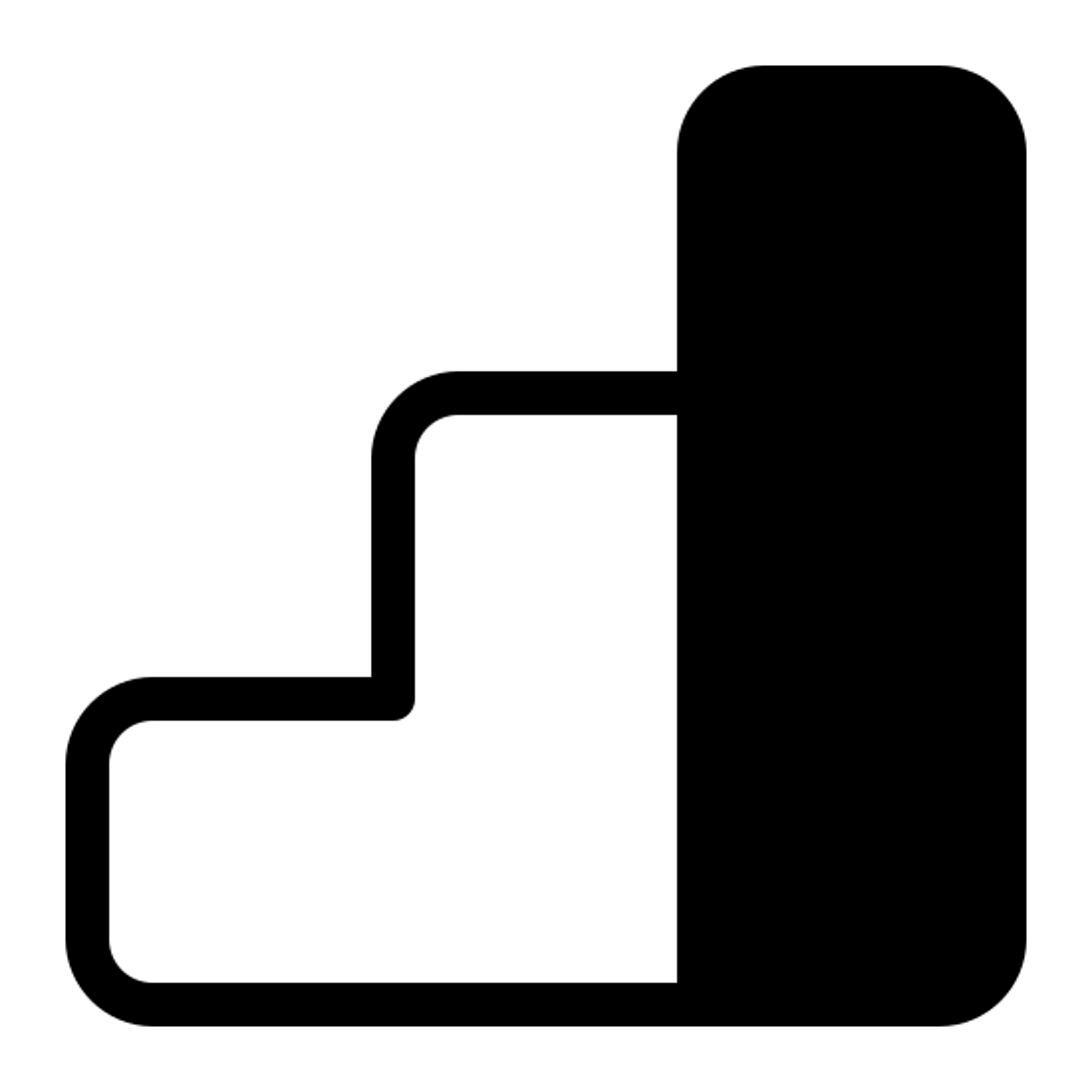 Google Analytics Logo Filled icon