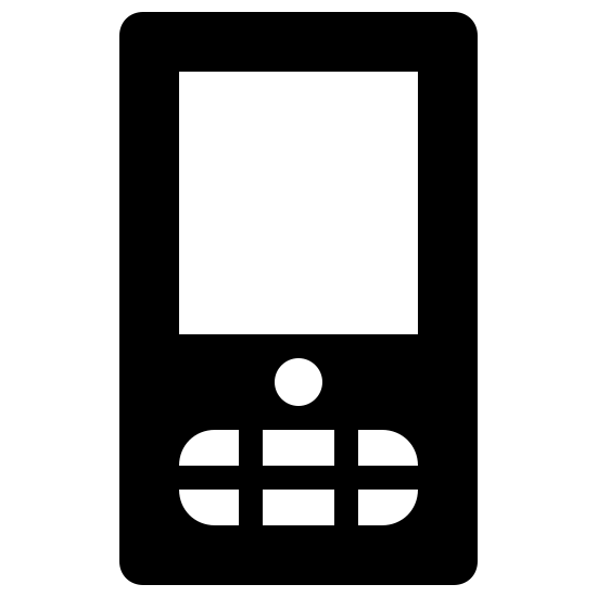 Google Mobile Filled icon. The Google mobile symbol is a phone that is a rectangular shape. In the side rectangle there will be another rectangle about half the size to show the screen of the phone. On the bottom of the rectangle there will be oval shaped with lines to show the buttons of the phone.