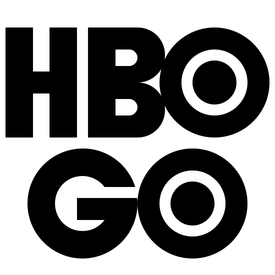HBO Go Filled icon. This is the icon for the TV Channel HBO Go. The letters for HBO are bubble letters and the O is a bullseye with other circles inside of it. The word GO is the same, with a bubble letter for a G and a bullseye for an O.