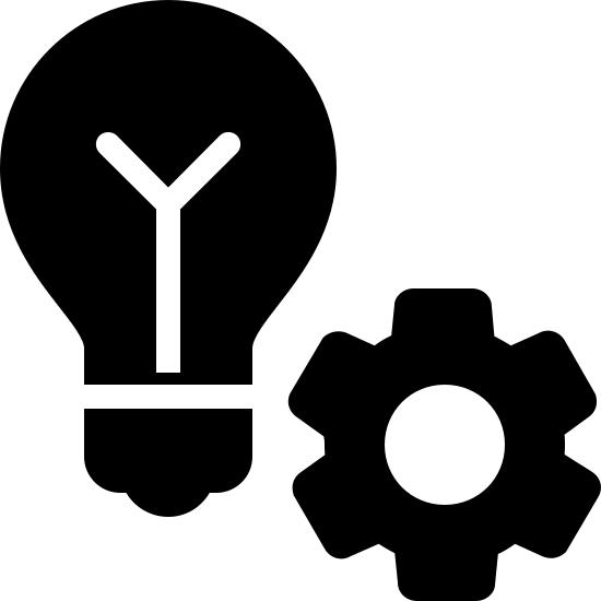 Automatisation de la Lumière icon. There is an image of a light bulb. it is the incandescent, screw-in, filament type bulb. To the right and slightly below is an image of a gear. They are close enough together to be seen as a single icon.