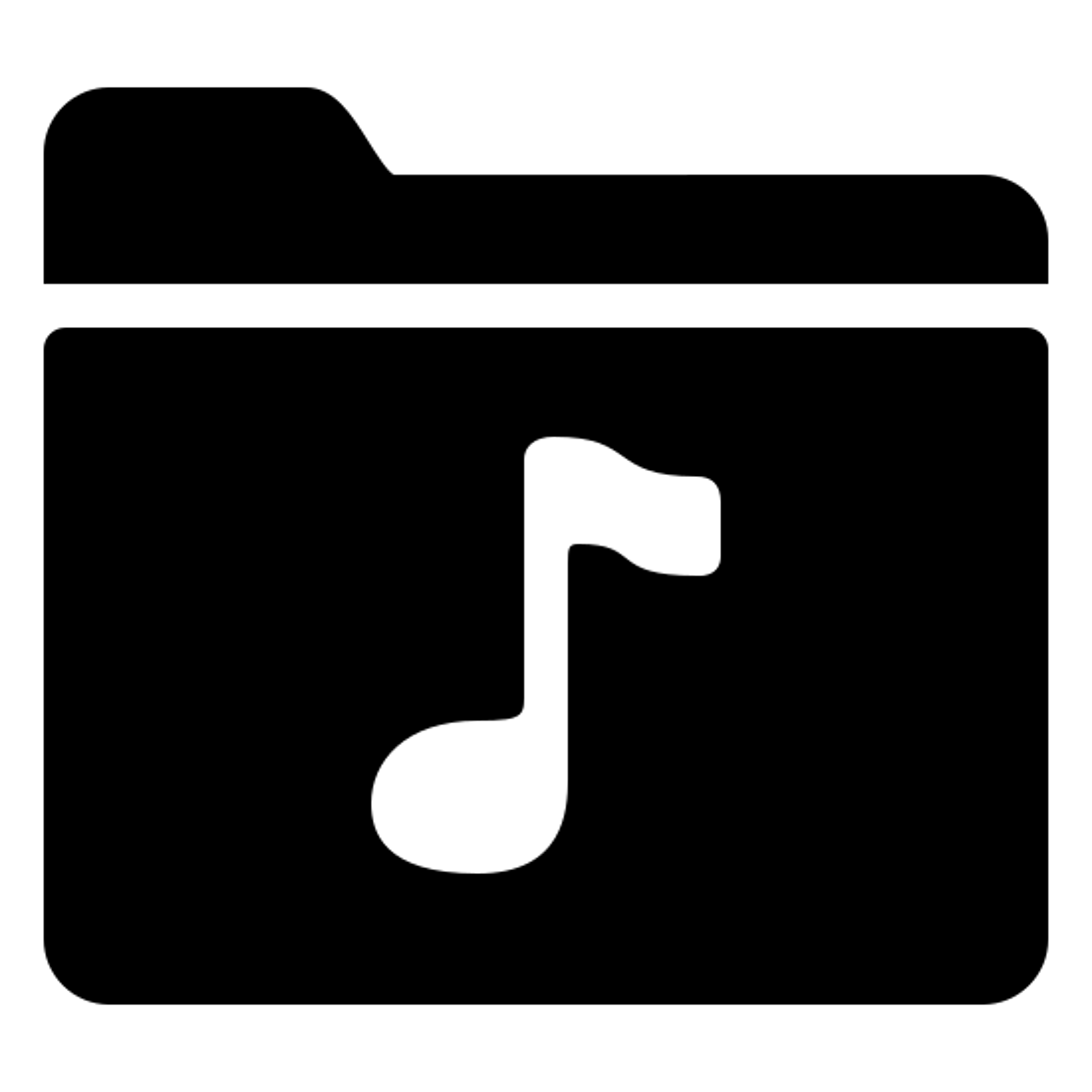 Music Folder Filled icon