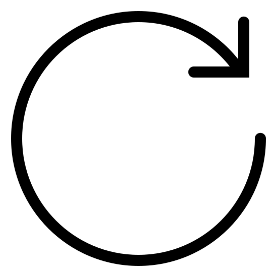 Wiederkehrender Termin icon. The logo is an arrow moving around in a perfect circle, pointing at it's tail end to indicate repetition. The circle does not close completely.