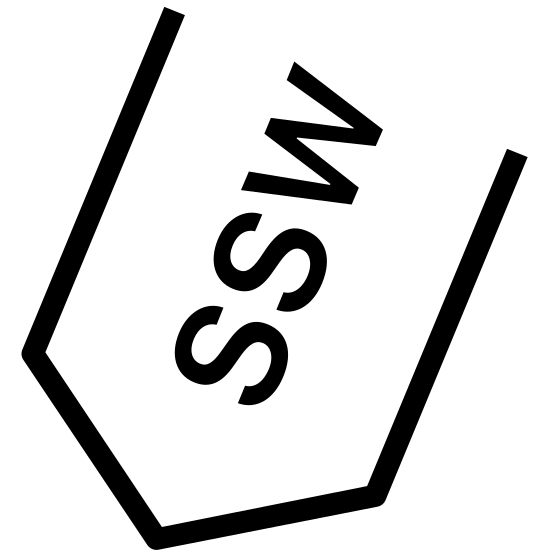South South West icon. This icon represents south south west. It is a line coming down into a triangle point with the letters SSW in the middle. The line represents an arrow pointing downward. The icon is sideways pointing not straight up and down.