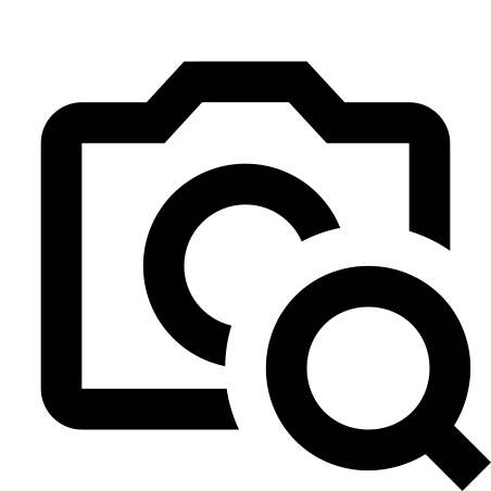Camera Identification icon in Material Outlined