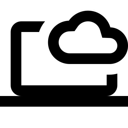 Cloud Computing icon in Material Outlined