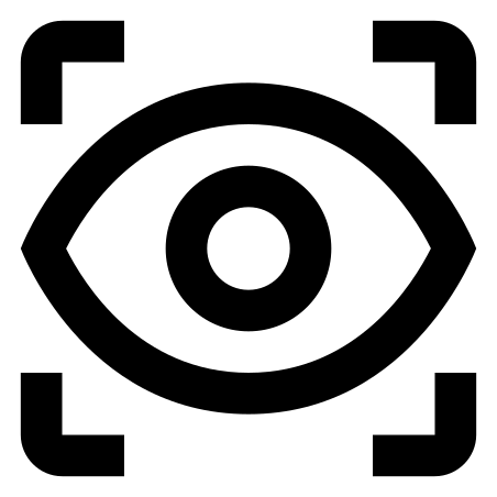 Vision icon in Material Outlined