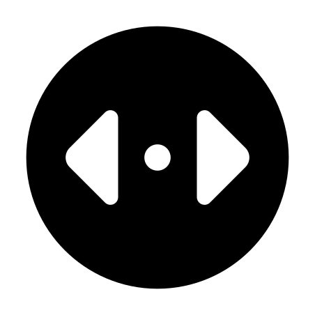 Divide Horizontal Direction icon in Material Rounded
