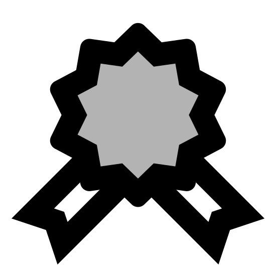 Contract icon. Looks like a rectangle with the top half folded in front to create a sort of tube shape. near the top inner region of the rectangle are two parallel horizontal lines. beneath this is a ribbon like drawing.
