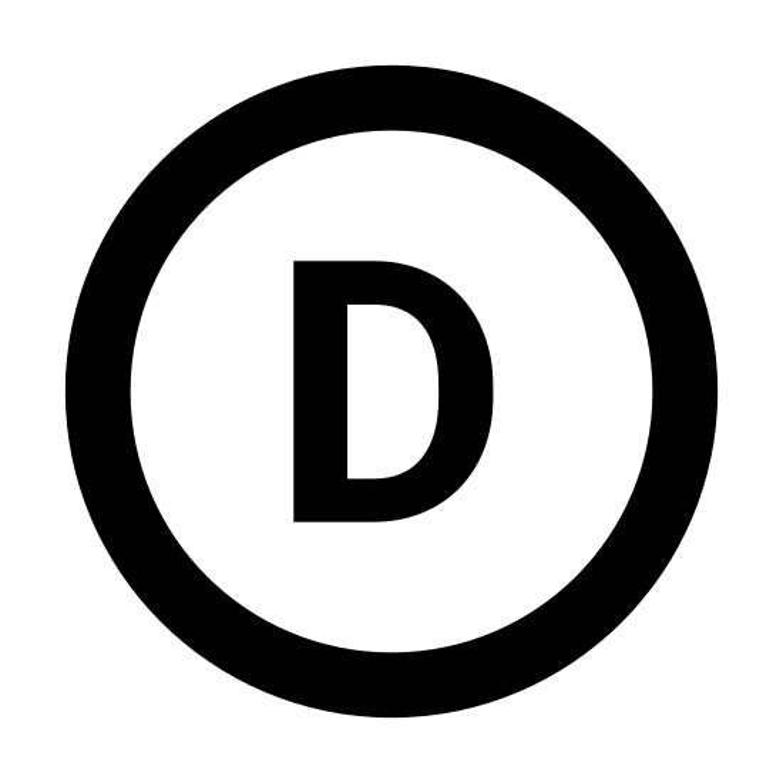 Circled D icon