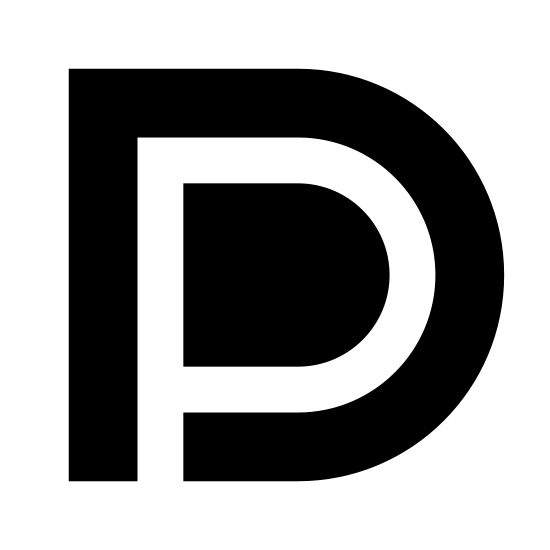 DisplayPort icon. The icon is basically identical to the logo used for the VESA Display Port standard, an interface allowing for the low-latency and wide throughput transfer of data and media. The icon consists of a stylized D, within which a P is inscribed in negative space.