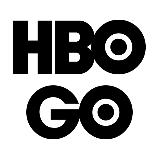 HBO Go icon. This is the icon for the TV Channel HBO Go. The letters for HBO are bubble letters and the O is a bullseye with other circles inside of it. The word GO is the same, with a bubble letter for a G and a bullseye for an O.