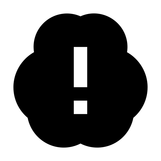 Proactivity icon. This image is depicting proactivity. There is a cloud that is circular in shape with an exclamation point in the center.