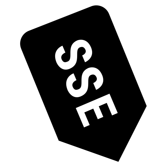 Sur sudeste icon. It's a logo of the South South East. It is pretty much reduced to the capital letters S, S, and E enclosed by a downward arrow. The arrow is the border of the logo.