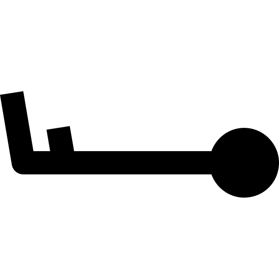 Wind Speed 13-17 icon. A stick figure sideways with a circle for a head on the right. The legs are sticking up diagonally to the upper left. First a long leg at the very left end, then a shorter leg after it.