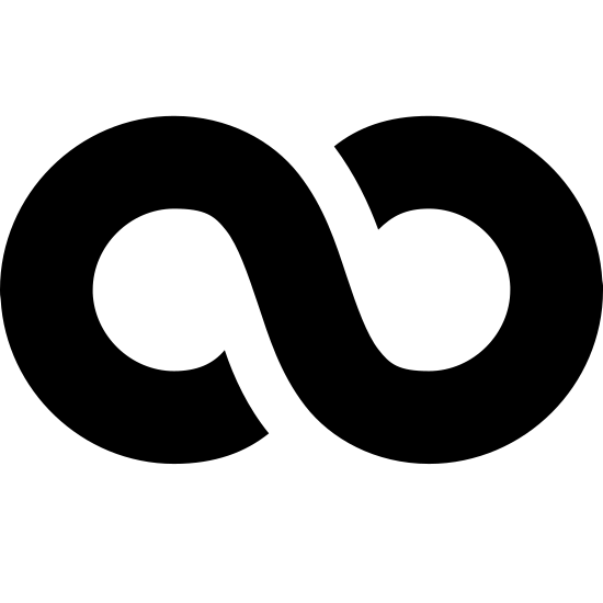 Nieskończoność icon. The icon for Infinity is a large, vertical eight. There is a very small space where the eight meets at the middle on the top line and the bottom line.