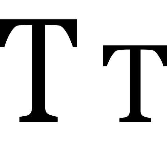 Małe litery icon. This is two letter Ts. The first one is a capital letter, it's a horizontal line intersecting a vertical line, with empty space between the lines of the letter.  The second letter is next to the first. It is shorter than the first by a third. It's a horizontal line intersecting a vertical with empty space in the lines of the letter.