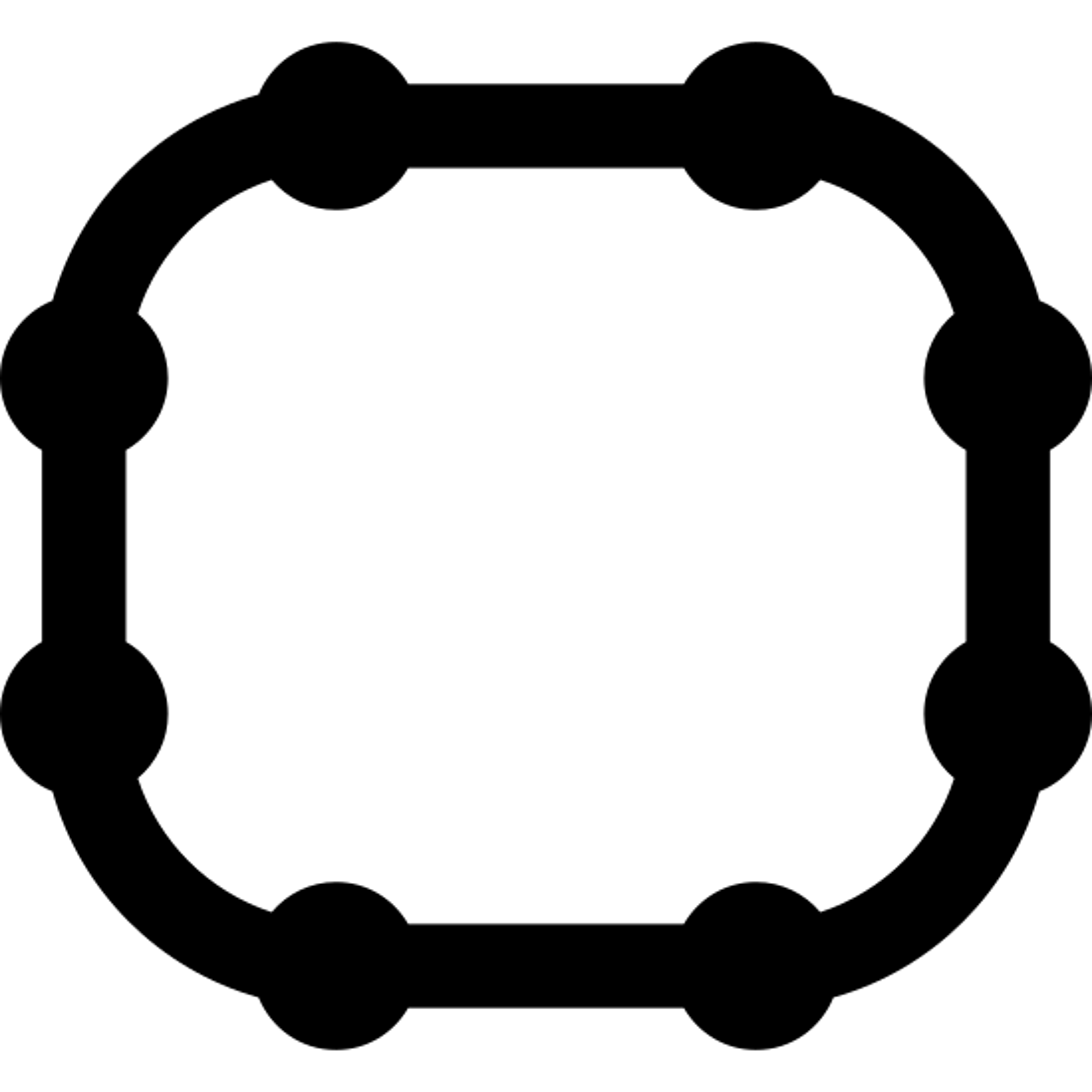 Prostokąt zaokrąglony obrysowane icon
