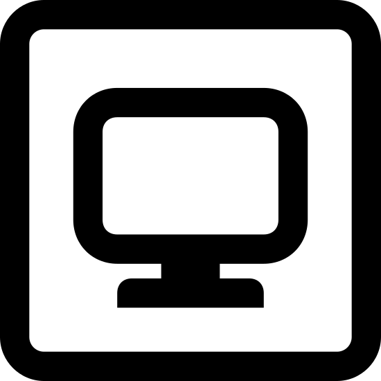 Piaskownica icon. The sandbox logo consists of a rectangle with a larger thinner rectangle on top. Diagonal lines and dots represent the sand, bike a line with a oval attached to it sticks out of the sand, representing a shovel.