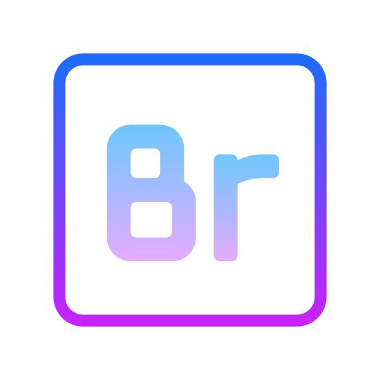 """Adobe Bridge icon. The icons for adobe are usually kept very simple. The one for """"Adobe Bridge"""" just has the a capital letter B and a lower case r. Its the abbreviated version of the word. The adobe part is not represented in the logo because all adobe icons have a simple unique style that is consistent in the icons of the other programs."""