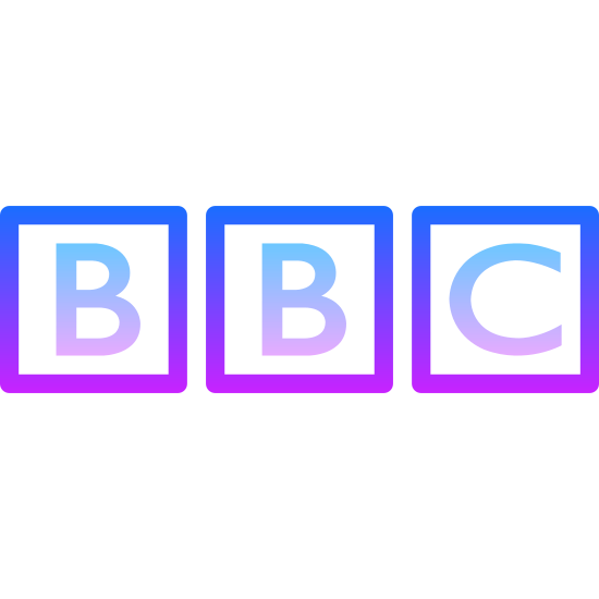 BBC logo icon. There are three squares. The left square has the letter B in it. The middle square has the letter B in it. The right square has the letter C in it. All of the squares are separated and are in a line next to each other.