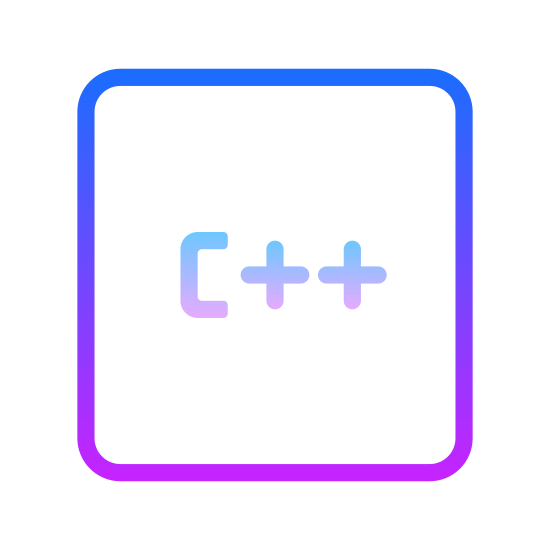 """C++ icon. This icon shows the letter """"c"""" next to two plus (or addition) signs. The purpose of the icon is to convey to the onlooker the programming language called """"c++""""."""