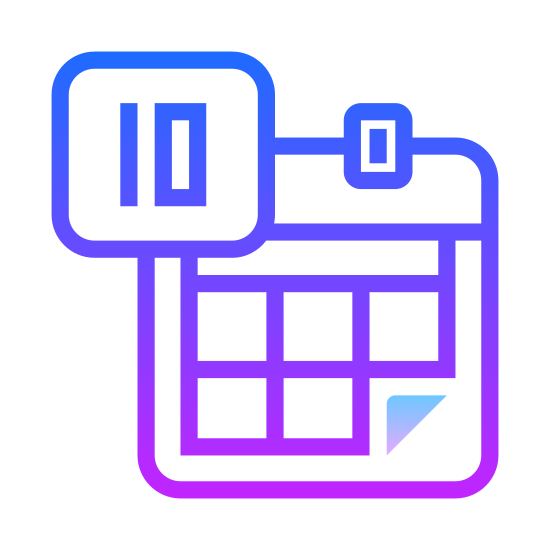 Календарь icon. This icon is meant to represent a calendar. It is simply a large rectangle with a smaller rectangle inside. This smaller rectangle is than filled with many crosshatched lines that represent the days of the week. Two tabs protrude from the top of the calendar to represent page holders.