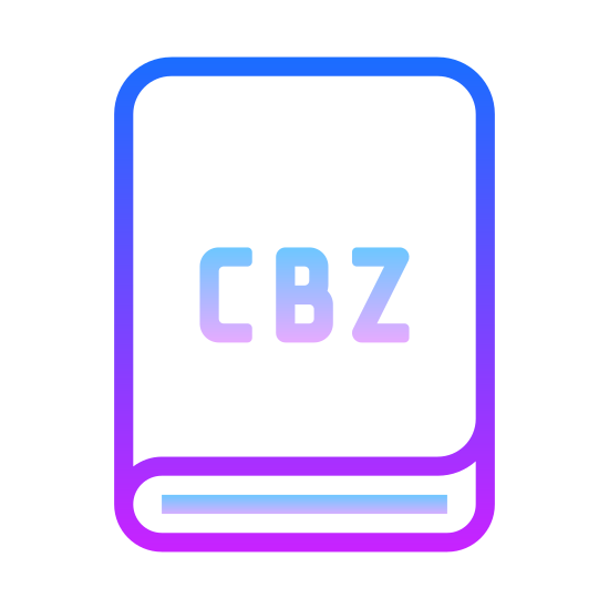 CBZ icon. The logo looks like a book. It is square with a rounded left edge and line curving from the left edge under the squares width. The initials CBZ are inside the square.