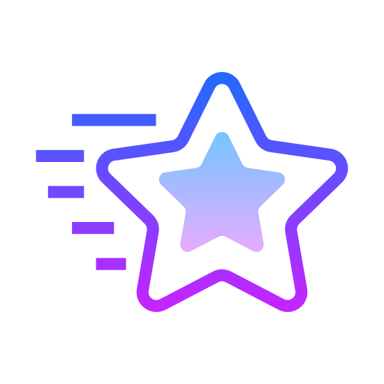 Christmas Star icon. It's an icon that has five points.  The dark sky is filled with them.  It flicker and sparks  of lightning breaking through it.  It is a celestial body that generates light and other energy.