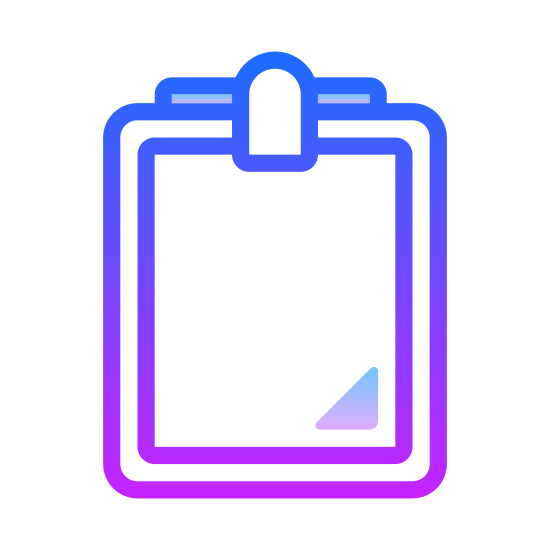 Portapapeles icon. The icon is a picture of a clipboard. The icon is in the shape of a rectangle. The icon has 3 lines in parallel to eachother horizontally in the center. This is to simulate writing on the clipboard.