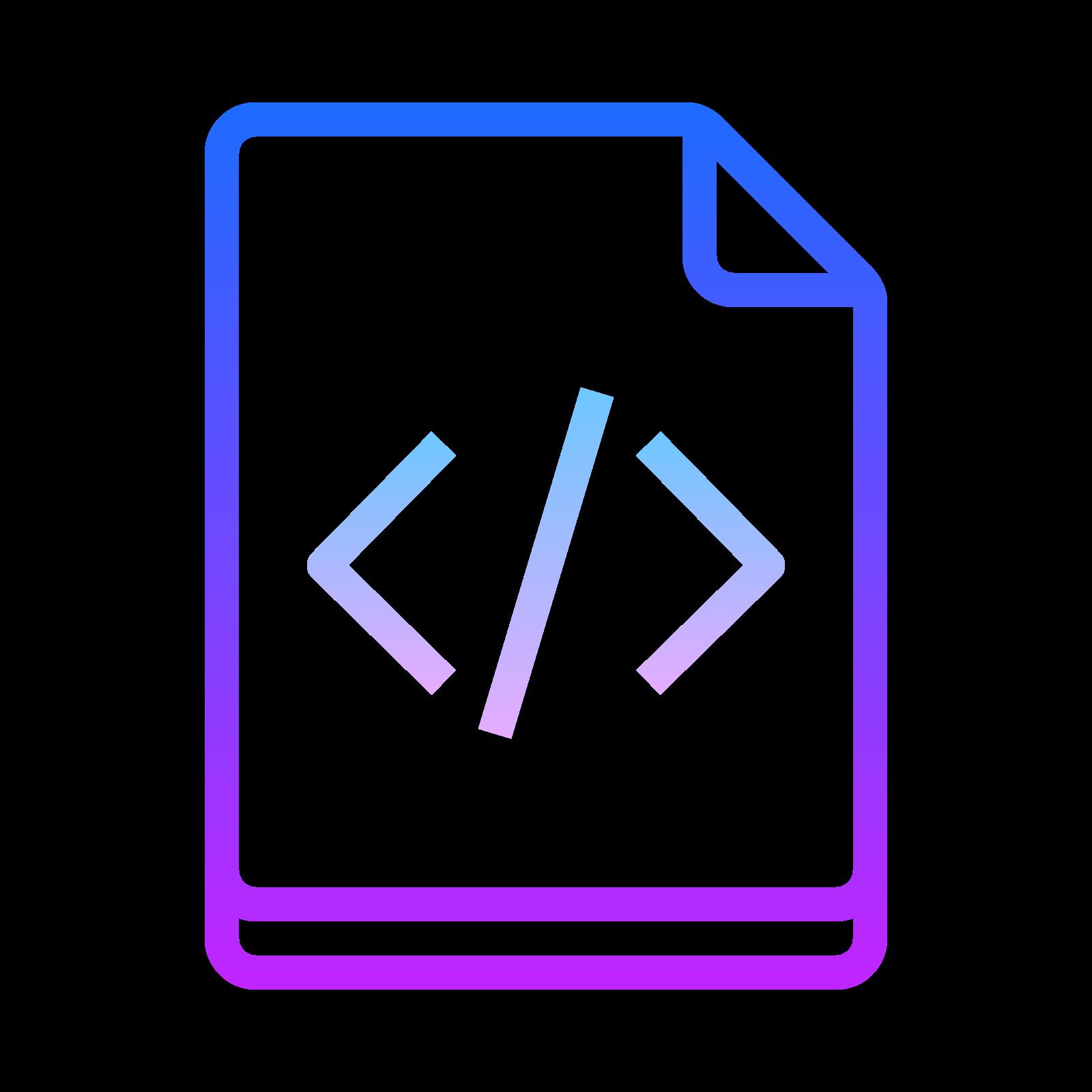 Archivo de código icon
