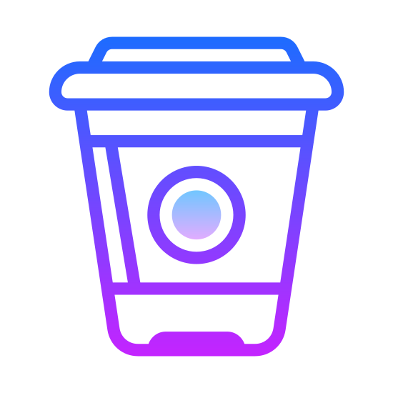 Coffee to Go icon. This is a styrofoam cup that is used for coffee or other hot beverages. It is made of recyclable materials. The styrofoam cup keep the heat in the beverage. it also has a cardboard ring on it for your hand to make sure your hand does not get hot.