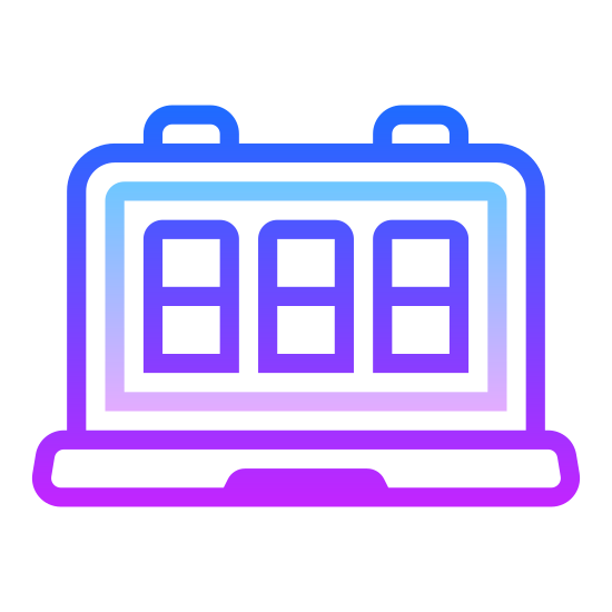 """Counter icon. There are three small, vertically placed rectangles right next to one another. In each of these rectangles there is a number that is designed to move. Currently, the first two rectangles show the number """"zero"""" and the third is changing from """"six"""" to """"seven."""""""