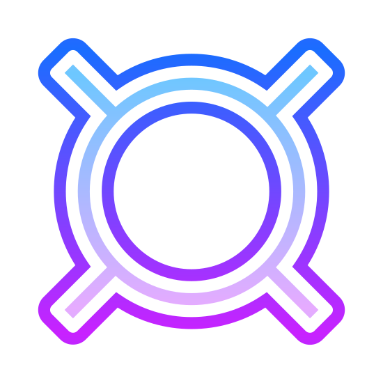 Waluta icon. The currency icon is a circle with four equal length lines coming out of it at diagonals. It is fairly plain, and used to generically define the following number as currency.